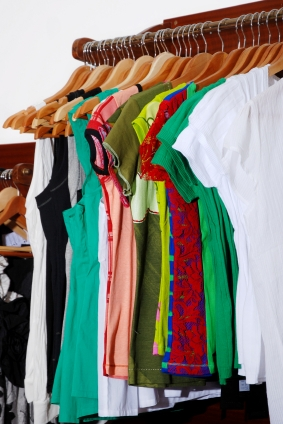 T-shirts in closet