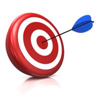Bullseye on target