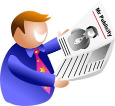 Cartoon of man looking at newspaper