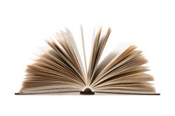 Open book, lying flat