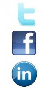 icons for twitter, facebook and linkedin
