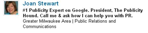Jan Stewart's LinkedIn headline
