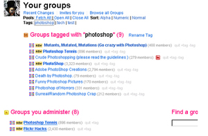 Groups feature on Flickr