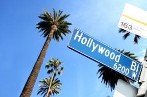 Hollywood Blvd. street sign