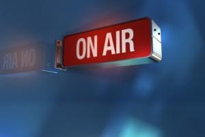 On  Air light outside radio or tv studio