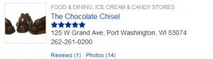 chocolate chisel listing on Port Washington Patch