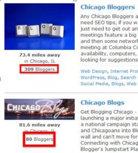 chicago bloggers on meetup.com