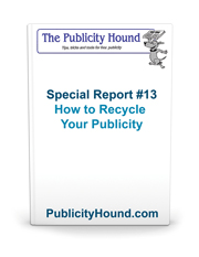 Cover of Special Report 13 on how to recycle publicity