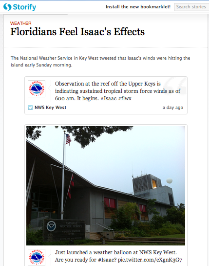 Storify entry for Hurricane Isaac