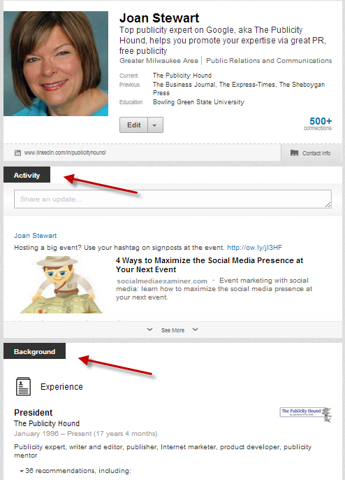 LinkedIn opt-in box 1