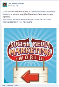 Social Media Marketing sign without hashtag