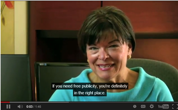 Caption from Welcome to The Publicity Hound's Website Video
