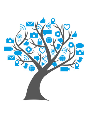 Digital social media tree