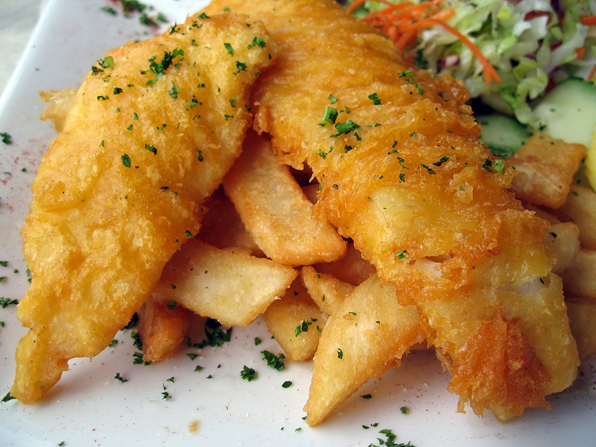 gluten-free fish fry for tv publicity