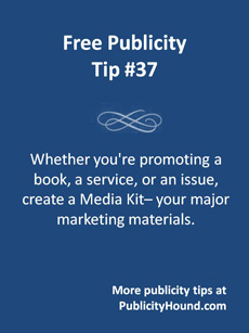 Free Publicity Media Kits for Authors