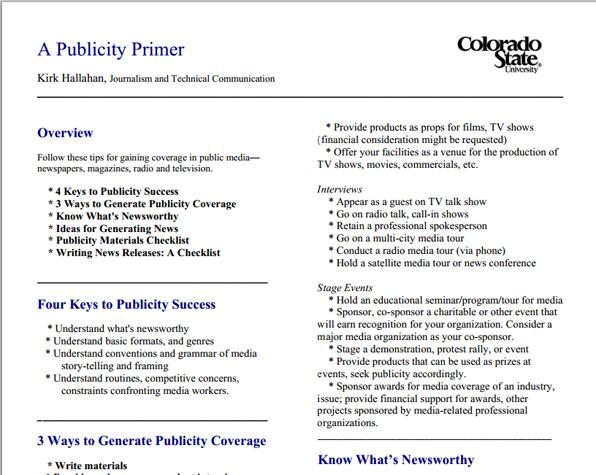 Publicity Primer
