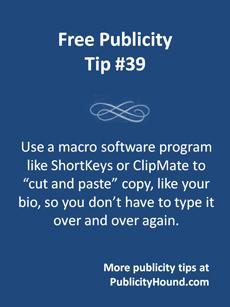 Free Publicity Tip 39--Use a Macro Key Program