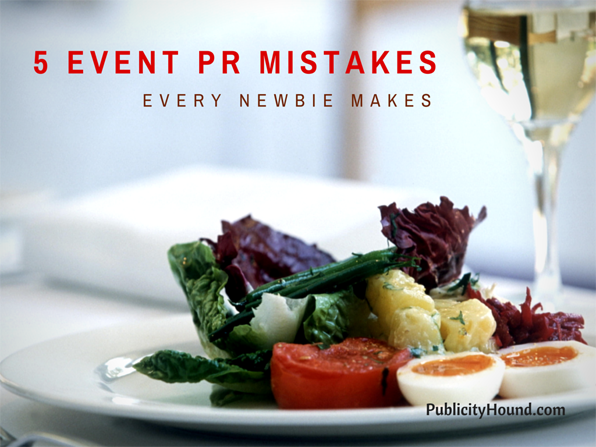 5 Event PR Mistakes