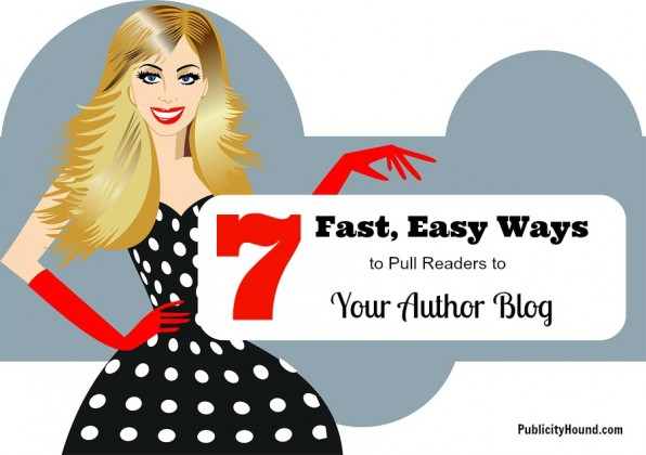 7 Fast, Easy Ways for Author Blogging woman with billboard