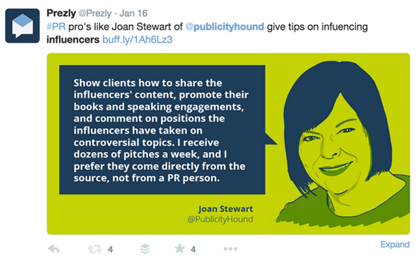 Joan Quote for Prezly Slidedeck