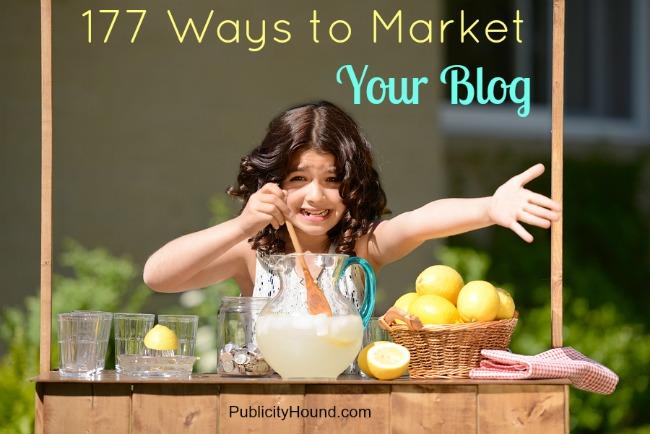 177 ways to market your blog big