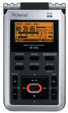 Roland hand-held recorder