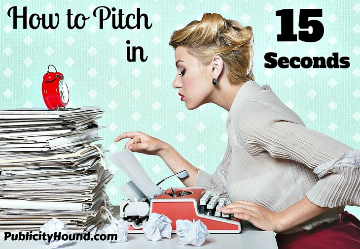 How to Pitch Your Book in 15 Seconds