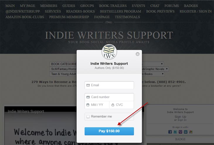 Listopia scam -- Indie Writers Support