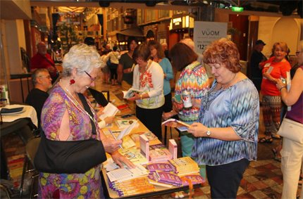 Book signing onboard ship